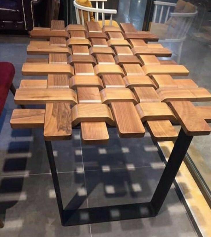 Furniture Industrial Meja Makan Motif Tikar Dari Besi
