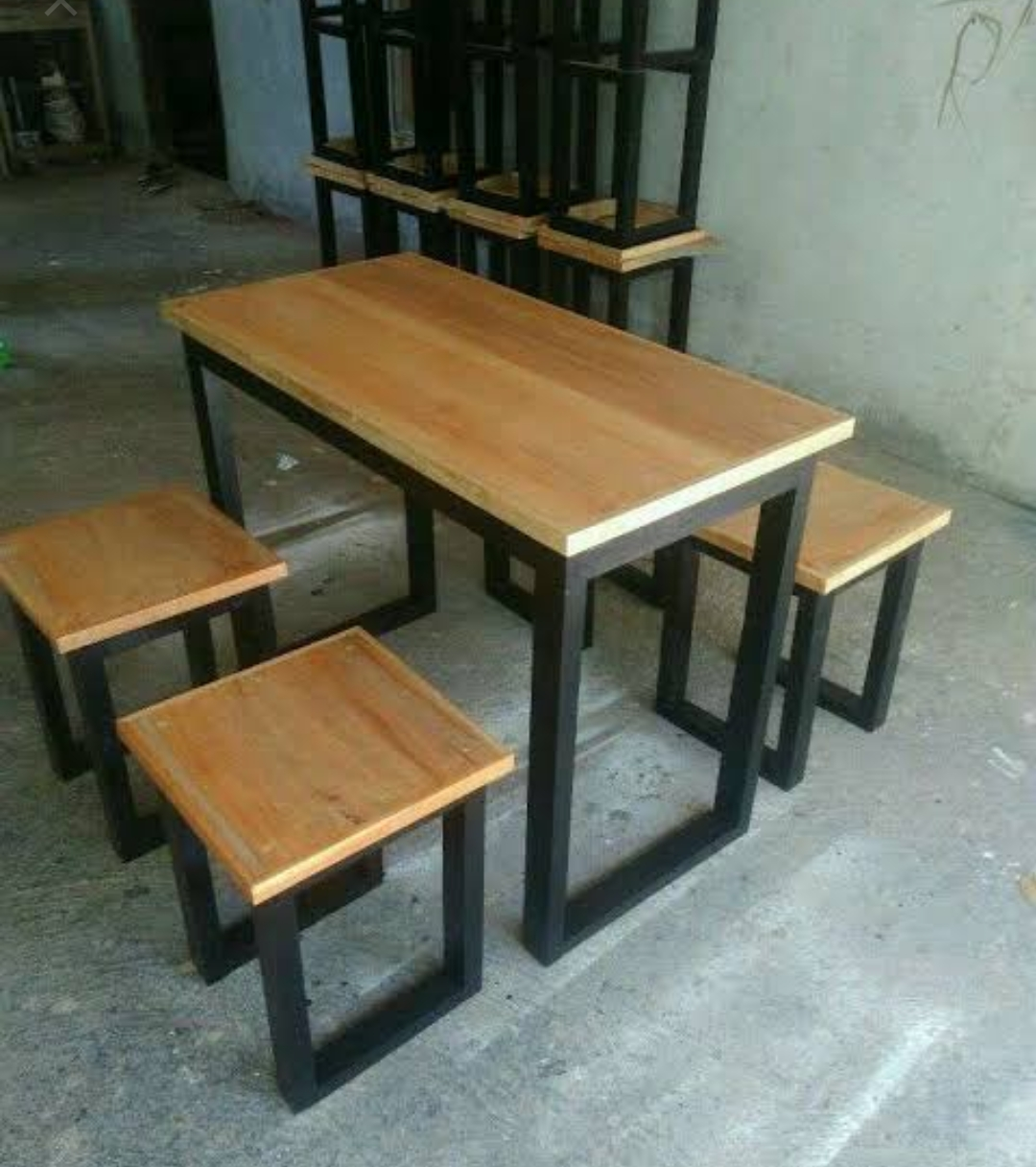Kursi Cafe Furniture Industrial Kayu Jati