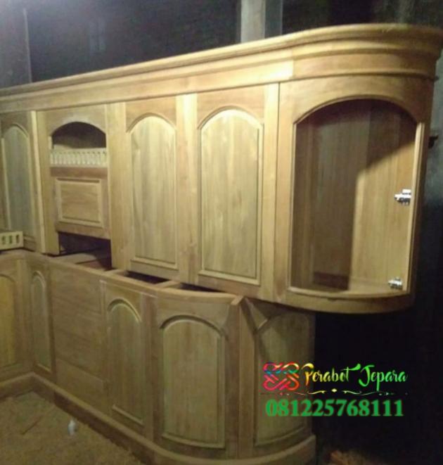 Mentahan lemari dapur Kitchen Set Jati Super