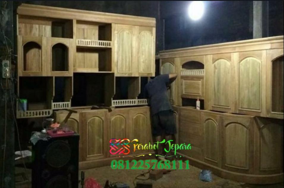 Mentahan Kitchen Set Kayu Jati Jepara