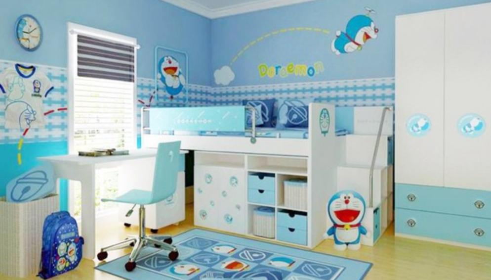 Tempat Tidur Anak Susun Gambar Doraemon