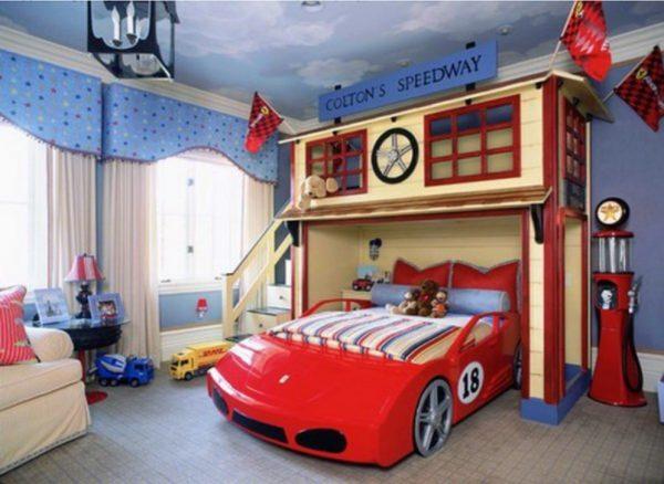 Tempat Tidur Tingkat Karakter Mobil Lamborghini