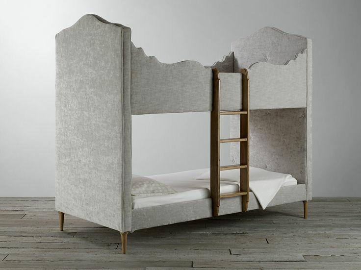 Desain Tempat Tidur Tingkat Mewah Model Jok Klasik