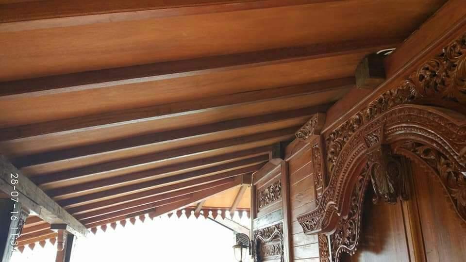 Foto Model Atap Rumah Kayu Jati Jepara