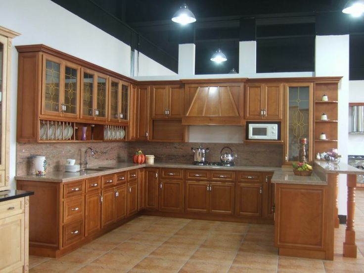 Model Kitchen Set Jati Plus Kaca