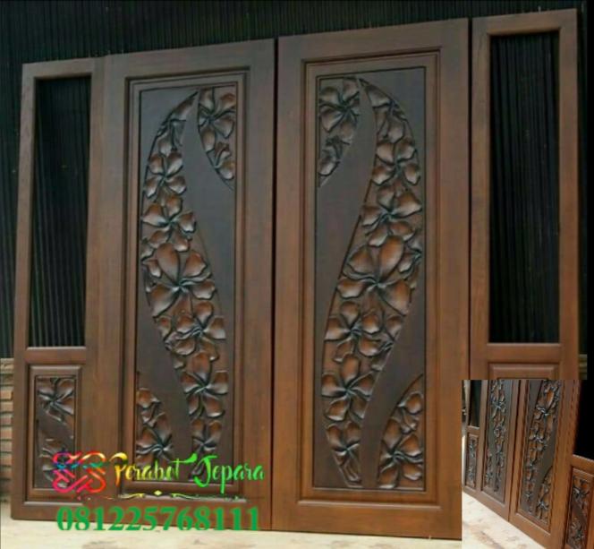 Pintu Klasik Modern Double Swing Kusen Pintu Rumah