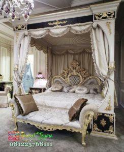 Tempat Tidur Mewah Sultan Model Kanopi Pergola