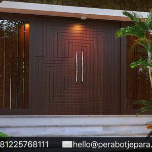 Model Pintu Minimalis Mewah Dari Kayu Jati