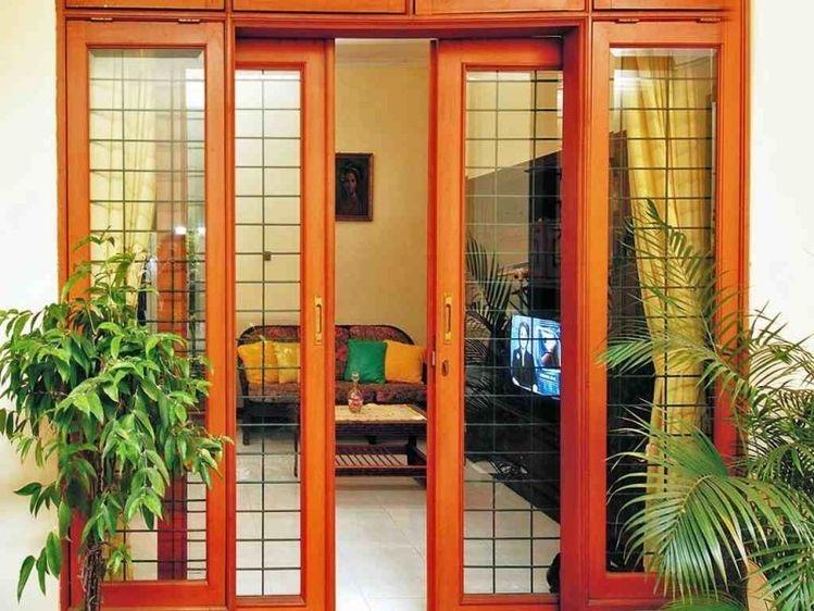 Pintu Taman Model Sliding Kayu Jati