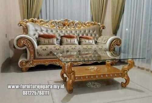 Sofa kaki lengkung mewah italian furniture