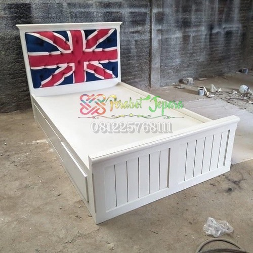 Tempat Tidur Anak Laci Jok Bendera Inggris