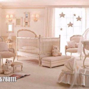 Tempat Tidur Bayi Modern Cat Duco Putih