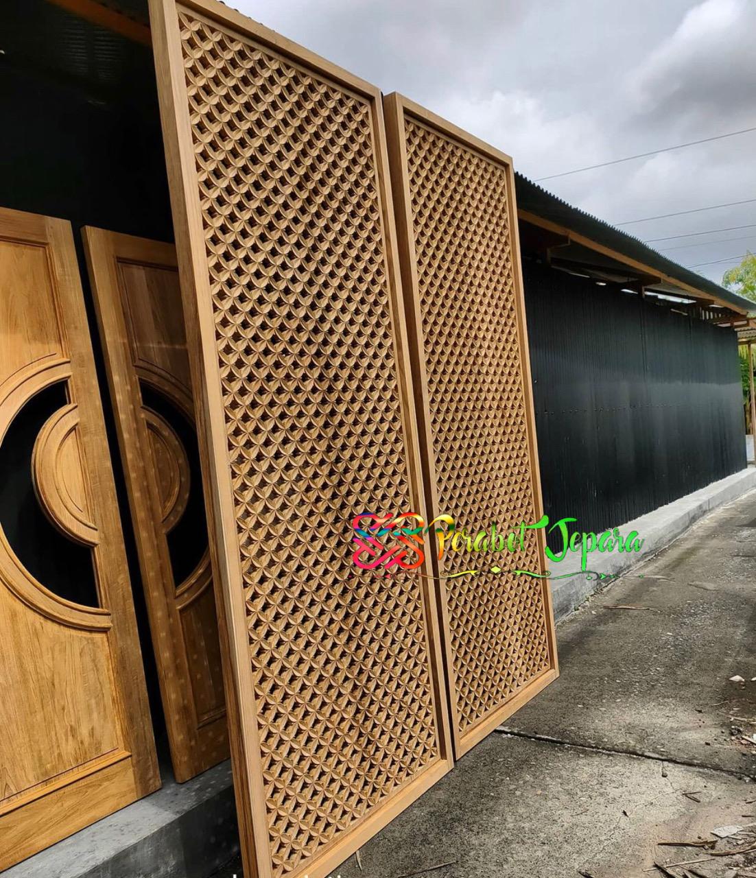 Pintu Ukir Terbaru 2021 Kayu Jati Jepara