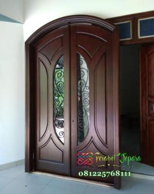 Pintu Utama Depan Rumah Kayu Jati