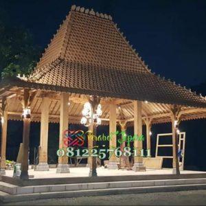 Rumah Joglo Pendopo Kayu Jati Ukir Jepara
