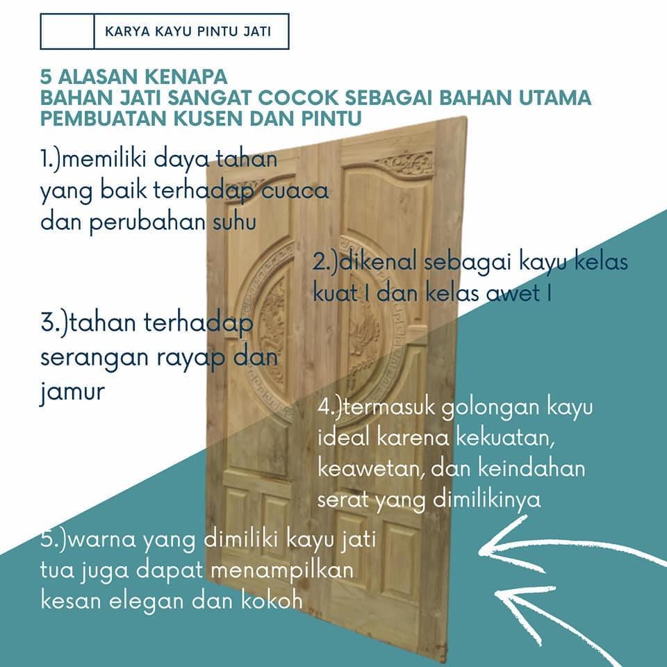 Karya Kusen Pintu Jati Minimalis Harga Murah Model Terbaru