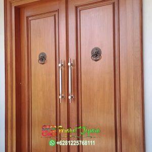 Pintu Jati Iras Tanpa Sambungan Model Minimalis Elegan